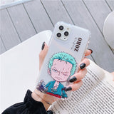 One Piece Young Roronoa Zoro Transparent iPhone Case