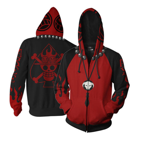 One Piece Spade Pirates Zip Hoodie