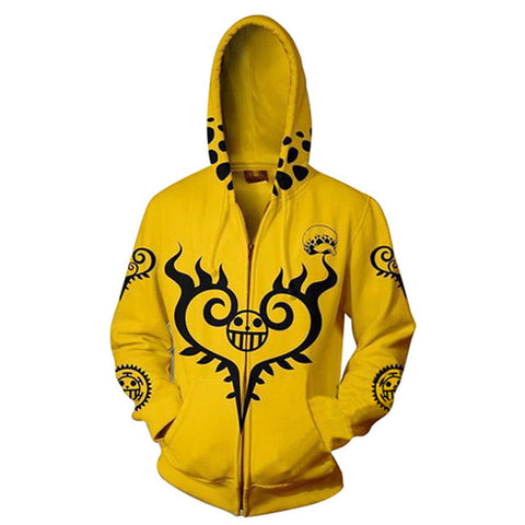 One Piece Yellow Surgeon of Death Zip Hoodie