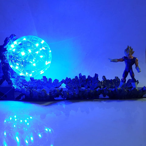 Dragon Ball Z Majin Vegeta Super Saiyan LED Lamp Figure