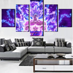 Dragon Ball Z God Goku Super Saiyan White Art Canvas