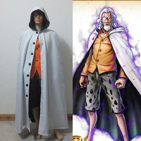 One Piece Silvers Rayleigh Dark King Cosplay Costume