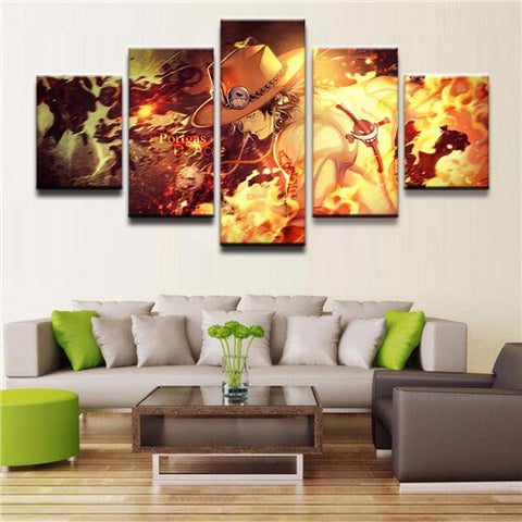 One Piece Portgas D. Ace Fire Fist Canvas