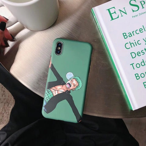 One Piece Roronoa Zoro Sleeping iPhone Case
