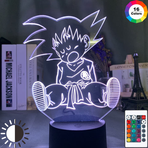 Dragon Ball Z Sleepy Kid Goku LED Lamp Figure