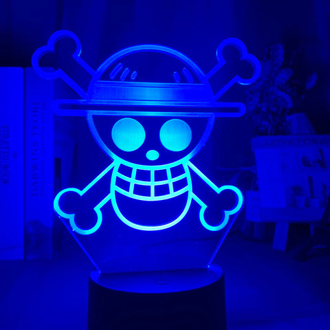 One Piece Jolly Roger LED Lamp