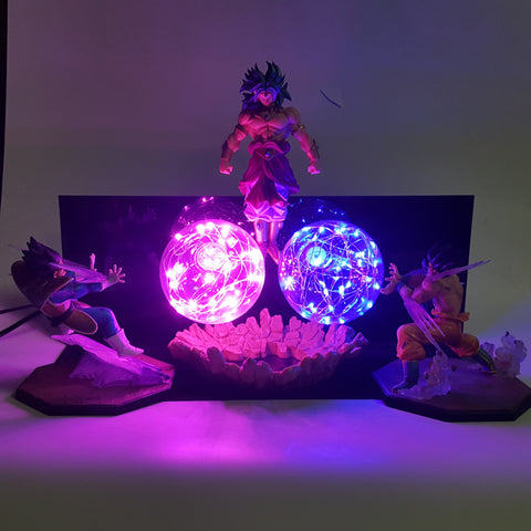 Dragon Ball Z Goku & Vegeta Versus Broly LED Lamp