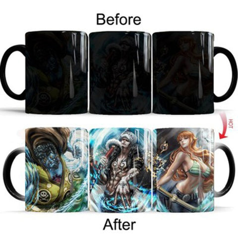 One Piece Nami Law Jinbe Color Changing Mug Cup