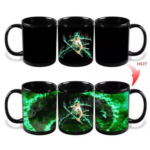 One Piece Pirate Hunter Roronoa Zoro Color Changing Mug Cup