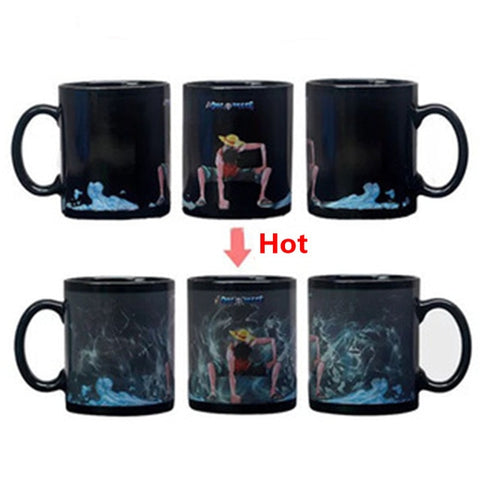 One Piece Monkey D. Luffy Devil Fruit Color Changing Mug Cup