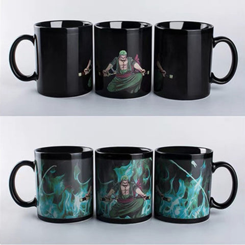 One Piece Bounty Hunter Roronoa Zoro Color Changing Mug Cup