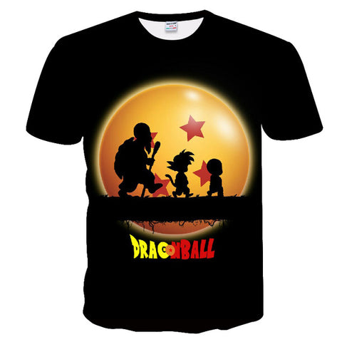 Dragon Ball Z Master Roshi Kid Goku Krillin T-Shirt