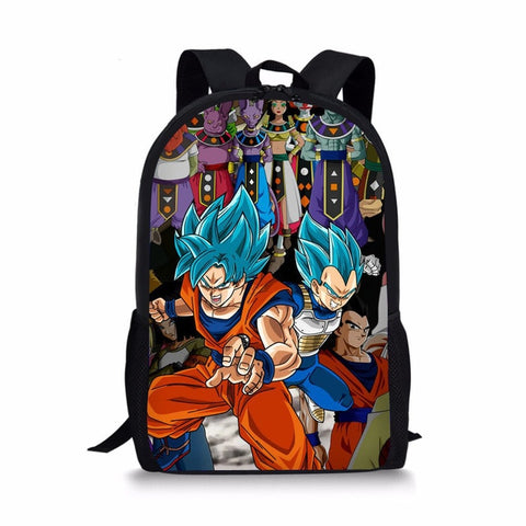 Dragon Ball Z Vegeta & Goku Super Saiyan Blue Fighting Backpack