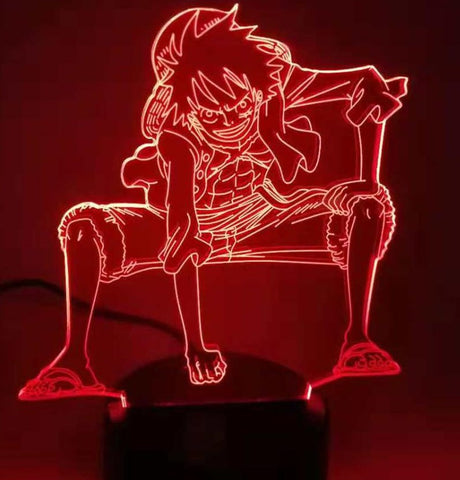 One Piece Monkey D. Luffy Smiling LED Lamp Figure