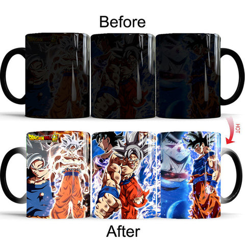 Dragon Ball Z Goku Combat Mode Heat Sensitive Color Changing Mug Cup