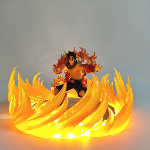 One Piece Portgas D. Ace Sound Of Fire Burning LED Lamp Figure