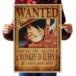 One Piece Dead or Alive Monkey D. Luffy Wanted Bounty Poster