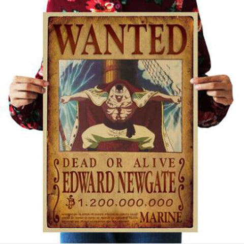 One Piece Dead or Alive Whitebeard Edward Newgate Wanted Bounty Poster