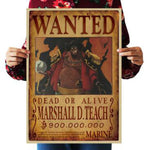 One Piece Dead or Alive Blackbeard Marshall D Teach Wanted Bounty Poster