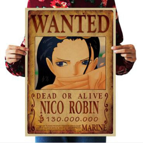 One Piece Dead or Alive Nico Robin Wanted Bounty Poster