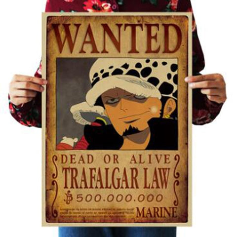 One Piece Dead or Alive Trafalgar D. Water Law Wanted Bounty Poster