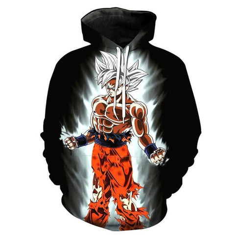Dragon Ball Z Ultimate Super Saiyan White Hoodie