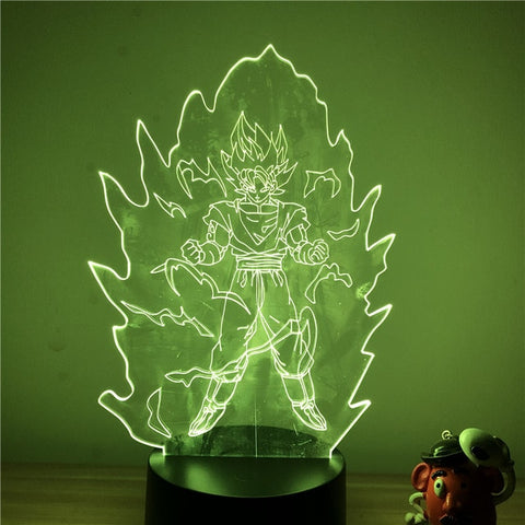 Dragon Ball Z Goku Super Saiyan Mode LED Lamp Figure