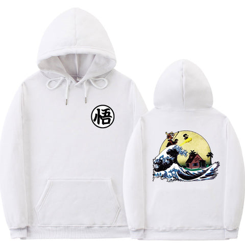 Dragon Ball Z Goku Kanji Wave Hoodie