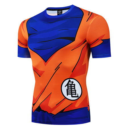 Dragon Ball Z Goku Orangi Gi Turtle Kanji Workout Short Sleeve T-Shirt