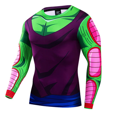 Dragon Ball Z Piccolo Jr. Workout Fitness Long Sleeve T-Shirt