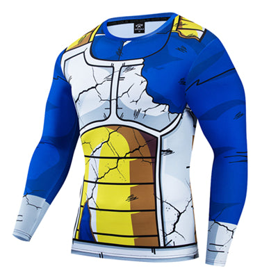 Dragon Ball Z Vegeta Damaged Battle Armor Long Sleeve Shirt
