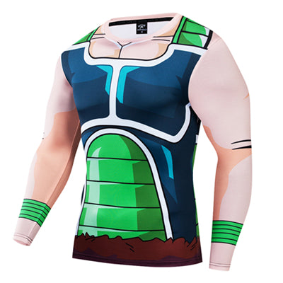 Dragon Ball Z Daigen Frieza Force Battle Armor Workout Long Sleeve T-Shirt