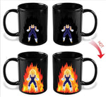 Dragon Ball Z Vegeta Jumpsuit Heat Sensitive Color Changing Mug Cup