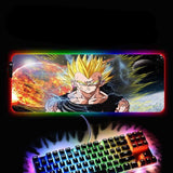 Dragon Ball Z Vegeta Super Saiyan RGB LED Mouse Pad