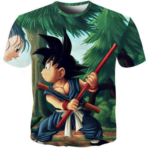 Dragon Ball Z Kid Goku & Bulma T-Shirt
