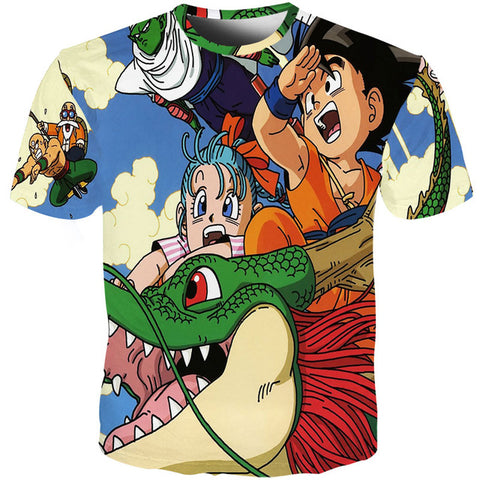 Dragon Ball Z Kid Goku & Bulma's Journey with Shenron T-Shirt