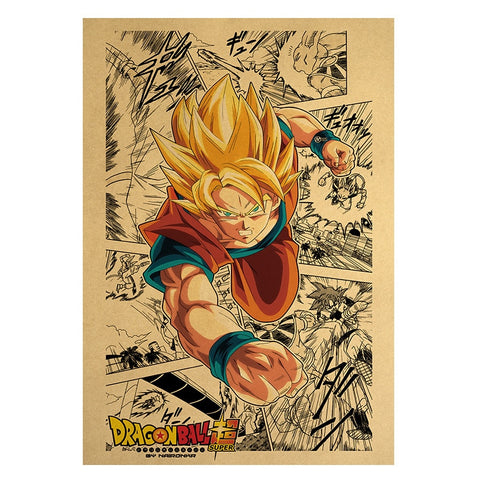 Dragon Ball Z Super Saiyan Goku Manga Poster