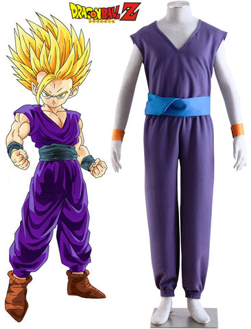Dragon Ball Z Son Gohan Demon Gi Fighting Uniform Cosplay Costume