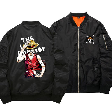 One Piece Luffy Black Bomber Jacket