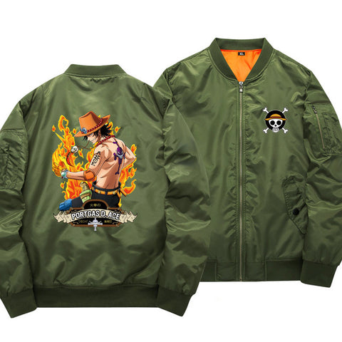 One Piece Portgas D. Ace Bomber Jacket
