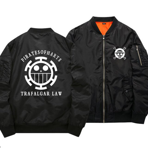 One Piece Pirates of Hearts Black Bomber Jacket
