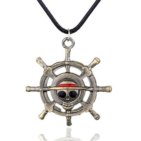 One Piece Jolly Roger Steer Pendant Necklace