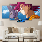 Dragon Ball Z Goku Super Saiyan Red Beerus Art Canvas