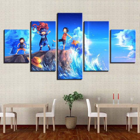 One Piece Sworn Brothers Young Sabo Portgas Luffy Canvas
