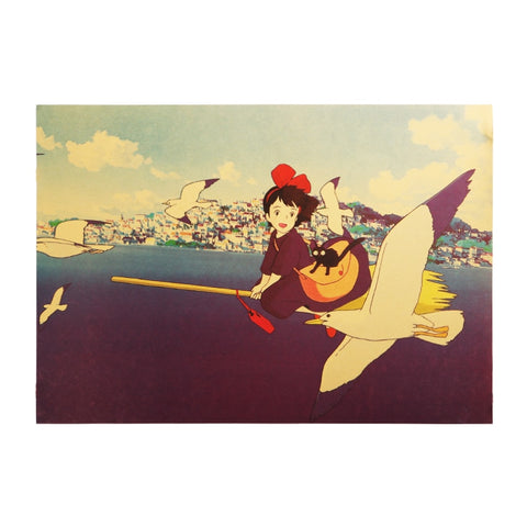 Kiki's Delivery Service Classic Movie Poster Sticker