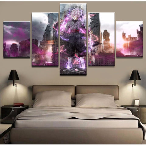 Dragon Ball Z Black Goku Destruction Art Canvas