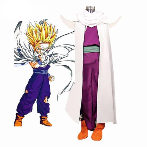 Dragon Ball Z Son Gohan Piccolo Lord Super Saiyan Fighting Uniform Cosplay Costume