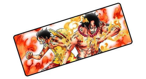 One Piece Monkey D. Luffy & Portgas D. Ace Fighting Mouse Pad