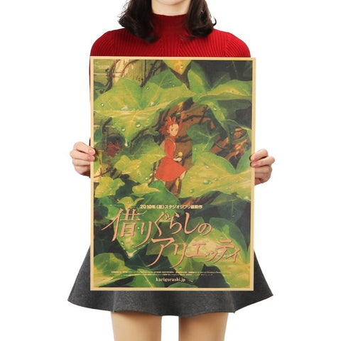 Arrietty the Borrower Classic Wall Sticker Poster