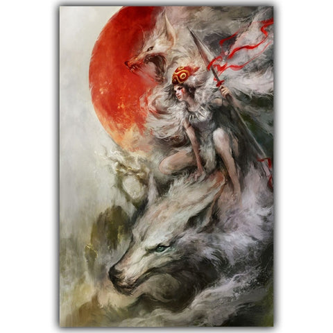 Princess Mononoke Animated Wall Art Poster